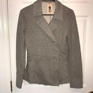 Sweatshirt material pea coat